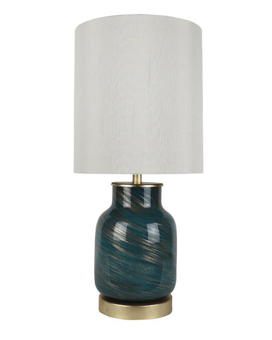 Art Glass Table Lamp - 2 Finishes