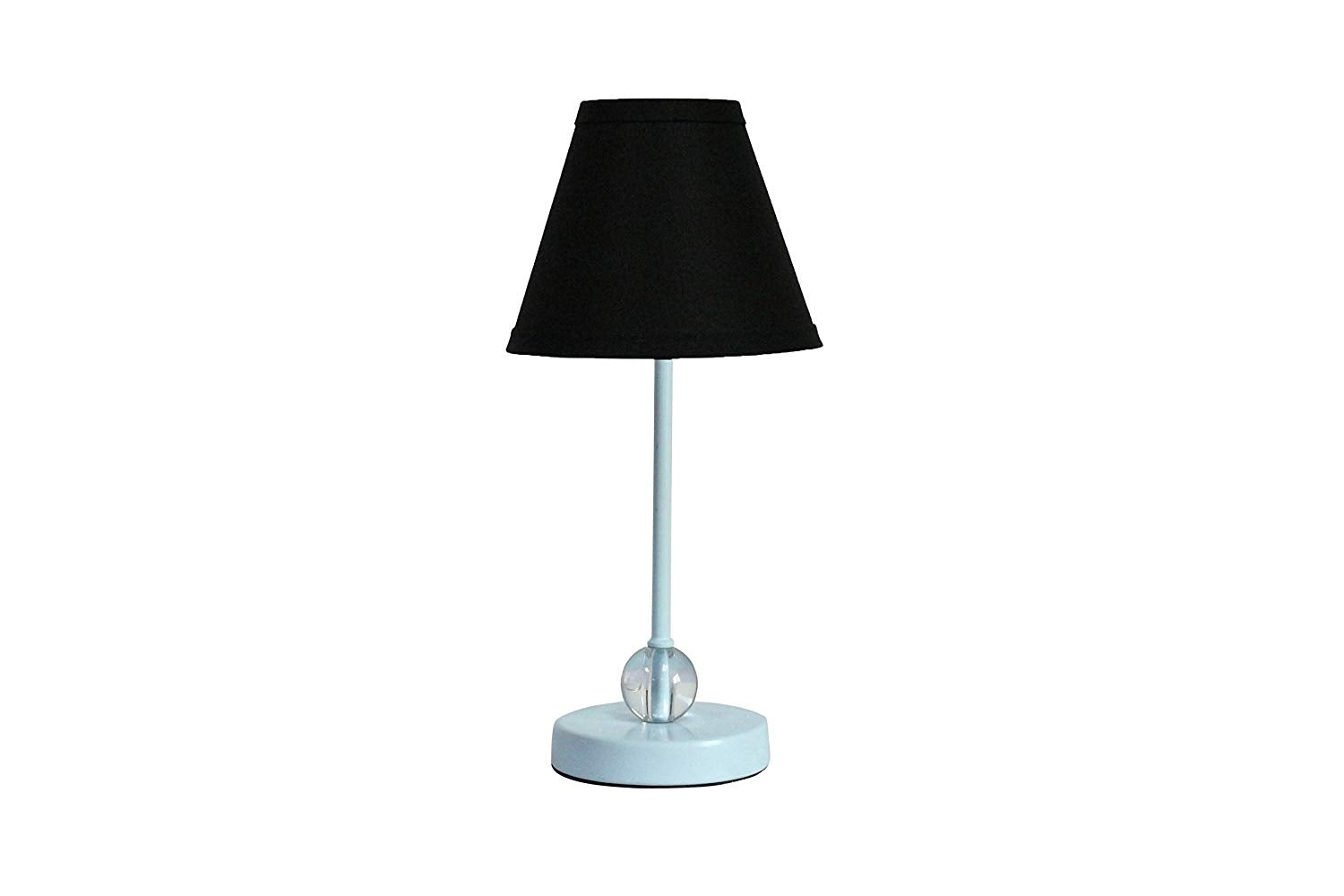 Chelsea Mini Accent Lamp with Black Linen Lamp Shade