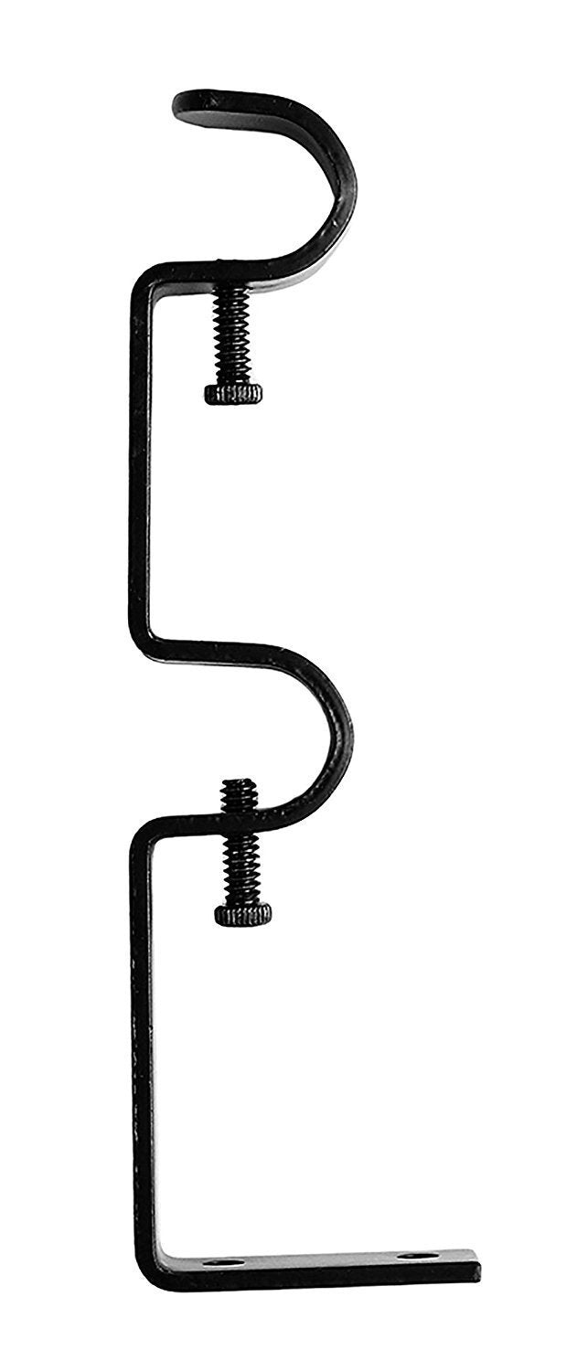 Double Curtain Rod Bracket, 1/2-inch to 5/8-inch Diameter Rods