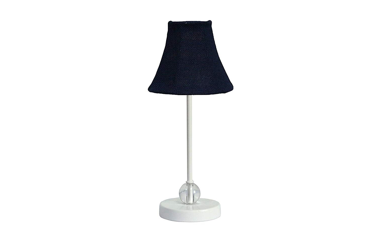 Chelsea Mini Accent Lamp with Blue Burlap Lamp Shade