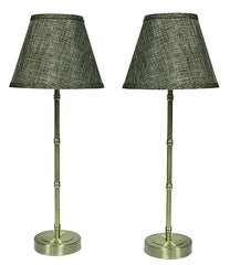Urbanest Set of 2 Bamboo-style Table Lamps with Shades