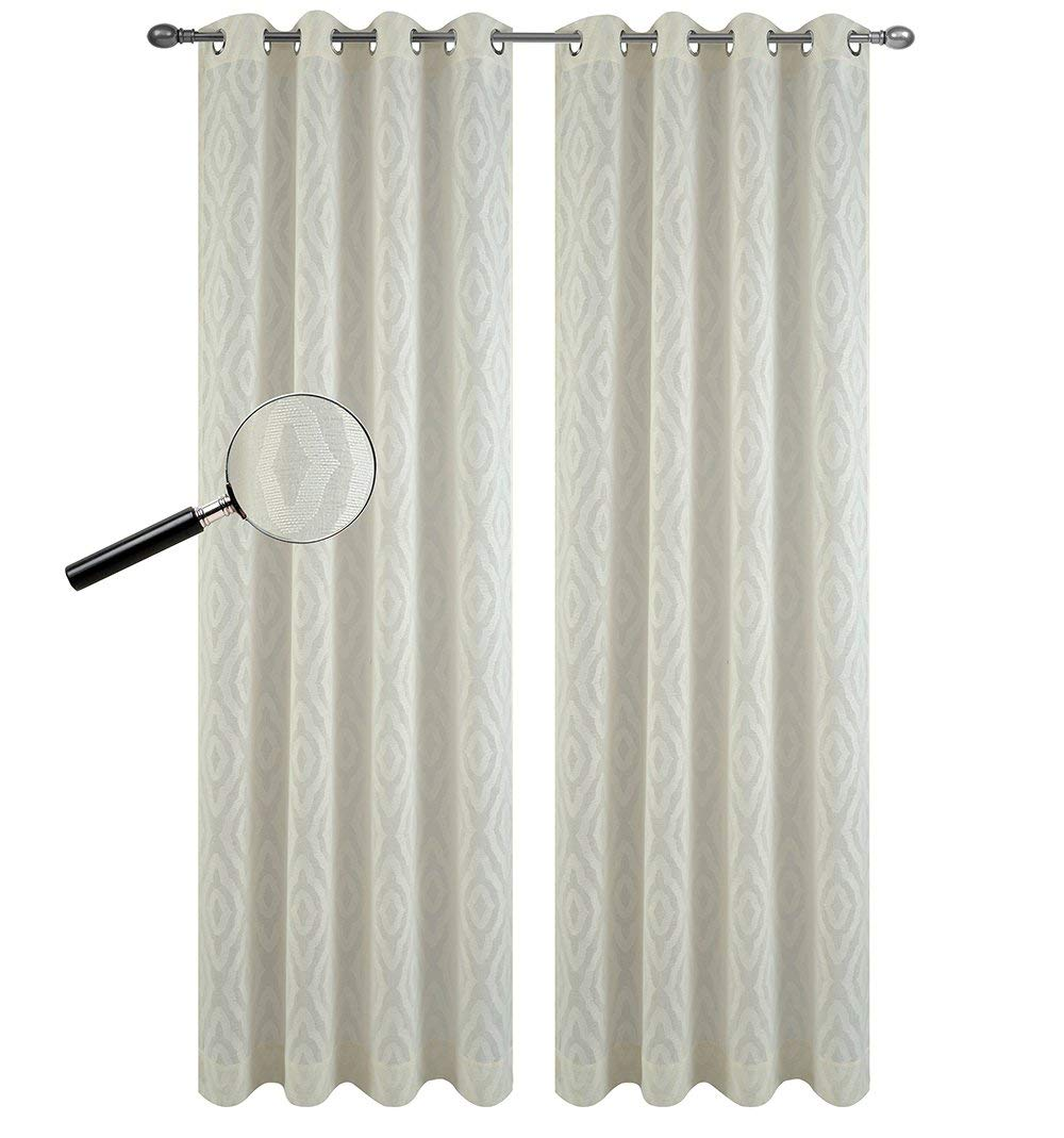 Urbanest Set of 2 Portland Sheer Curtain Drapery Panels with Grommets