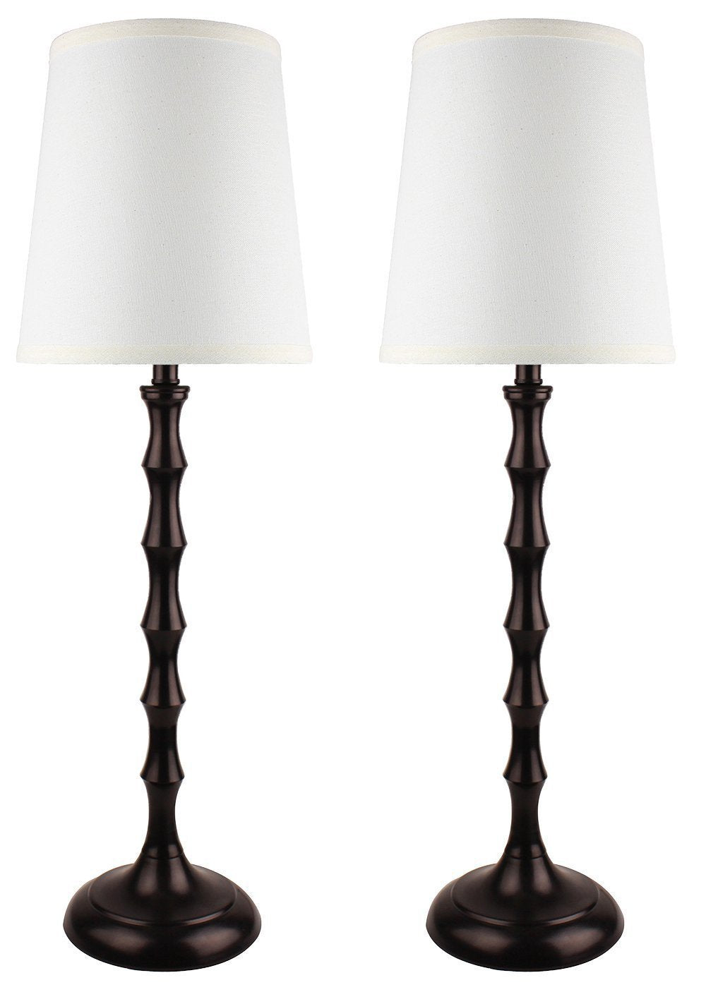 Set Of 2 Bahama Bamboo Buffet Lamps, 26 Inch Tall