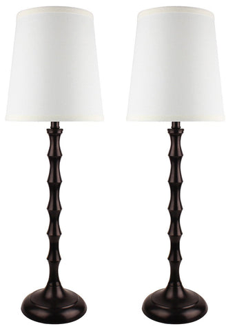 Set of 2 Bahama Bamboo Buffet Lamps, 26-inch Tall