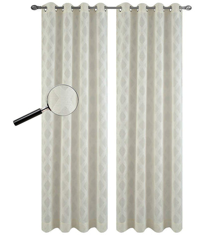 Urbanest Set of 2 Austin Sheer Curtain Drapery Panels with Grommets