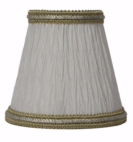 Bamboo Pleat 5-inch Chandelier Lamp Shade - 3 Colors