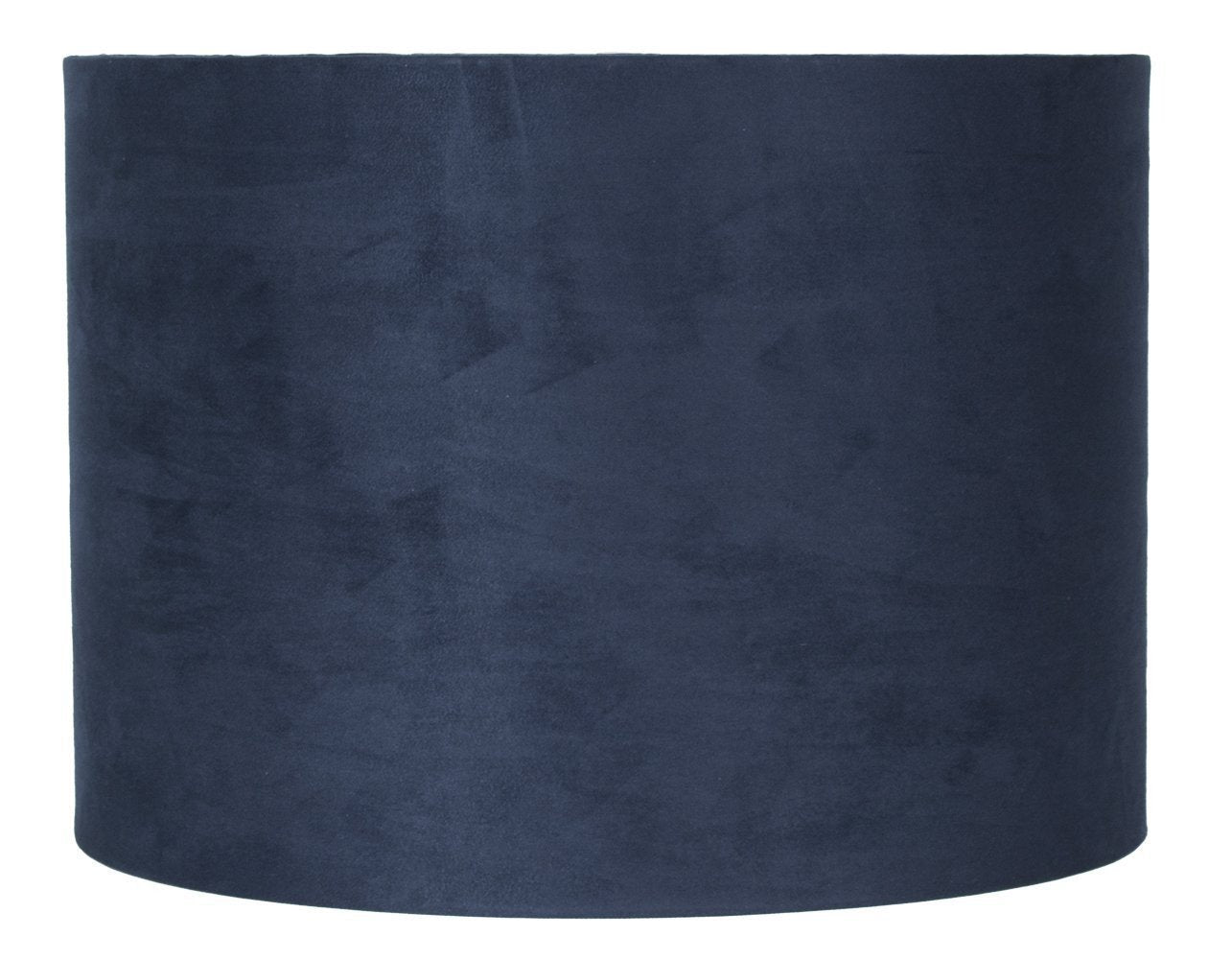 Navy Blue Suede Classic Drum Lampshade