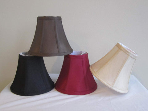 Urbanest 1100630c Chandelier Lamp Shades 6-inch, Bell, Clip On, Burgundy (Set of 6)