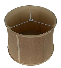 Softback Drum Lampshade,Faux Silk, 12-inch, Spider
