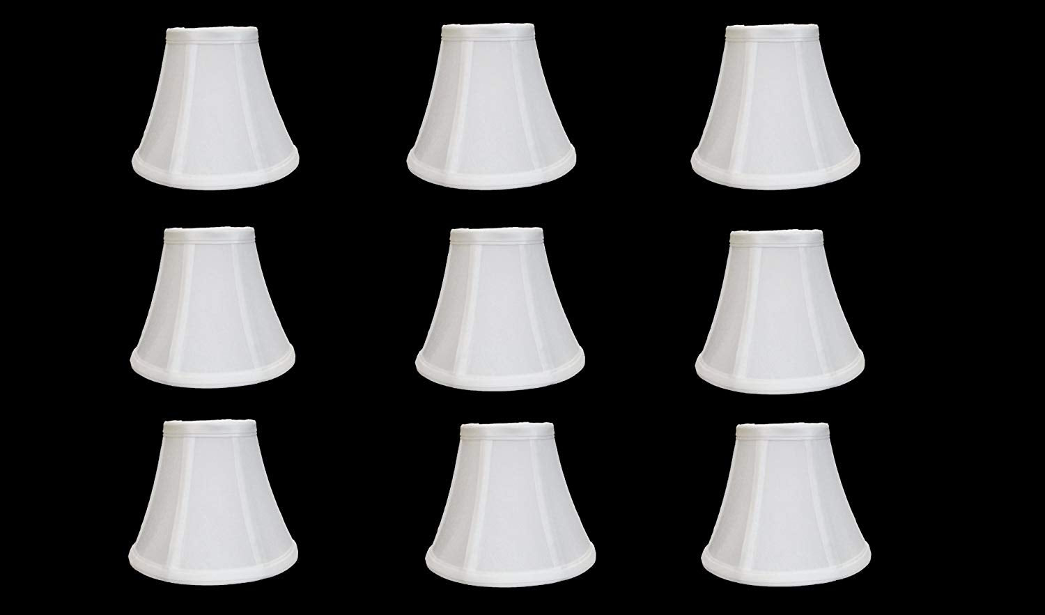 "Urbanest Chandelier Lamp Shades, Set of 9, Soft Bell 3""x 6""x 5"" White , Clip On"