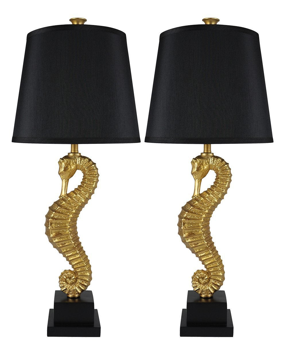 Set of 2 seahorse table lamps urbanest set of 2 seahorse table lamps aloadofball Gallery