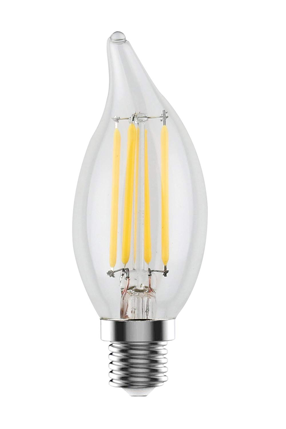 Urbanest C32L E12 LED Filament Edison-style Flame Tip Light Bulb, 4 Watt 60W Equivalent