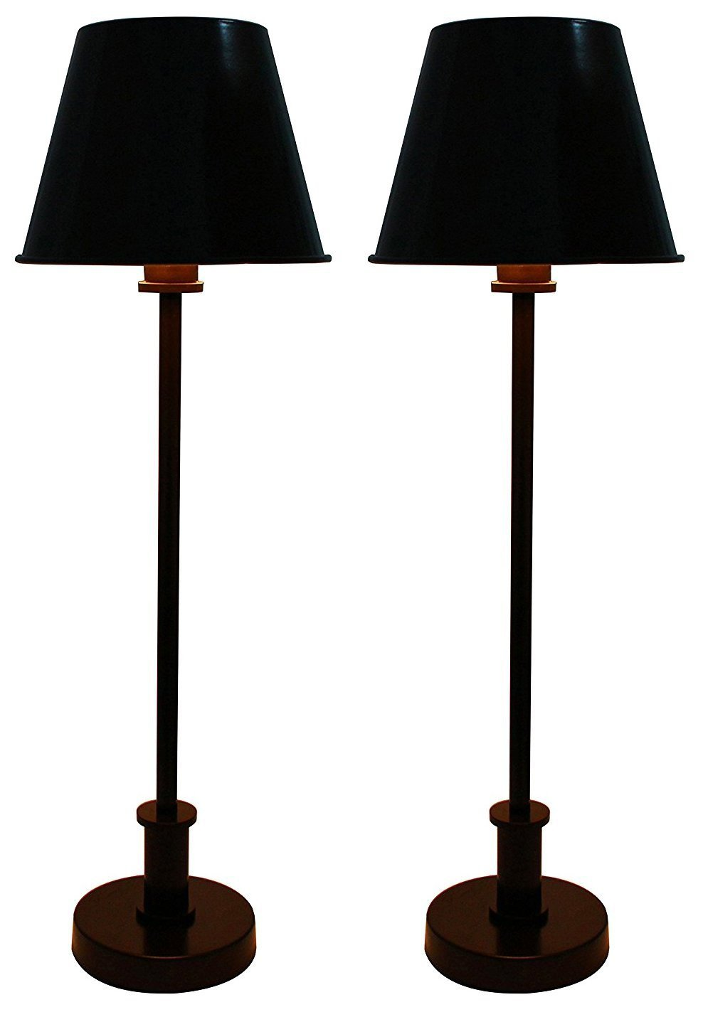 Set of 2 Eaton Buffet Lamps with Shades
