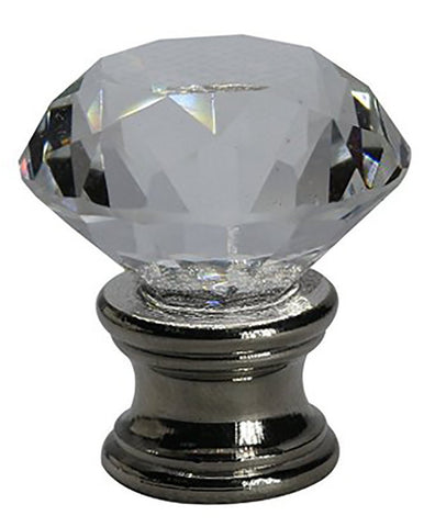 Crystal Duchess Lamp Finial - 2 Finishes