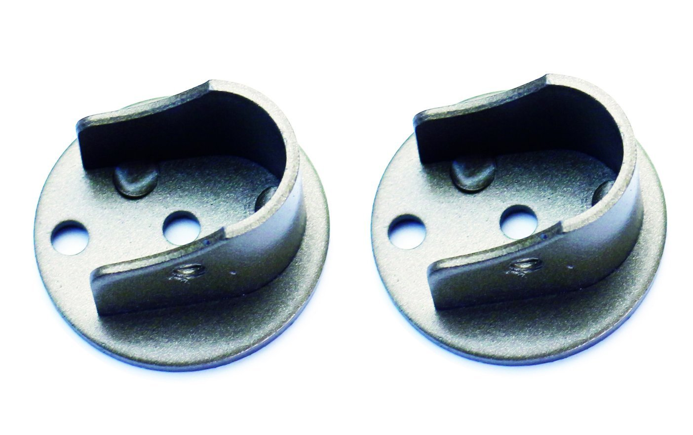 Set of 2 Inside Mount Brackets for 1 1/8-inch to 1 1/4-inch Curtain Rods