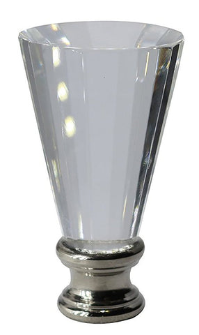 Crystal Trumpet Lamp Finial - 2 Finishes