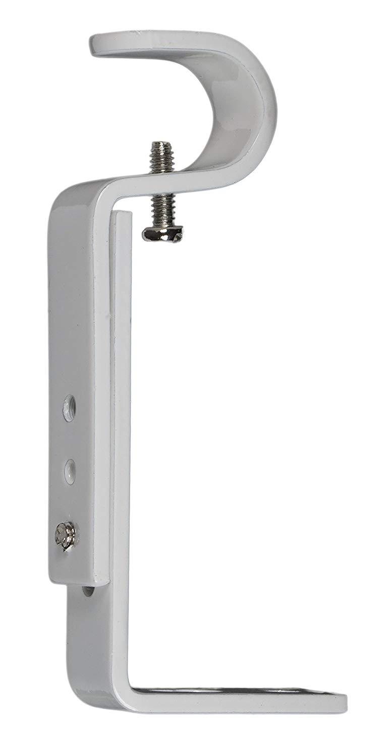 Adjustable Bracket for 1/2-inch and 5/8-inch Curtain Drapery Rod - 7 Finishes