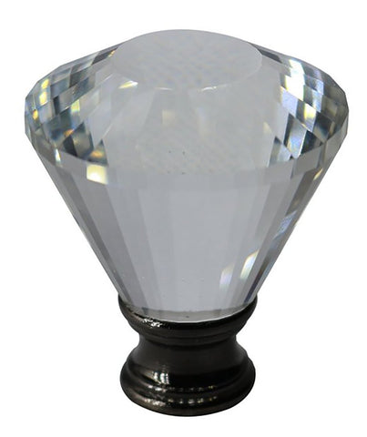 Crystal Diana Lamp Finial - 2 Finishes