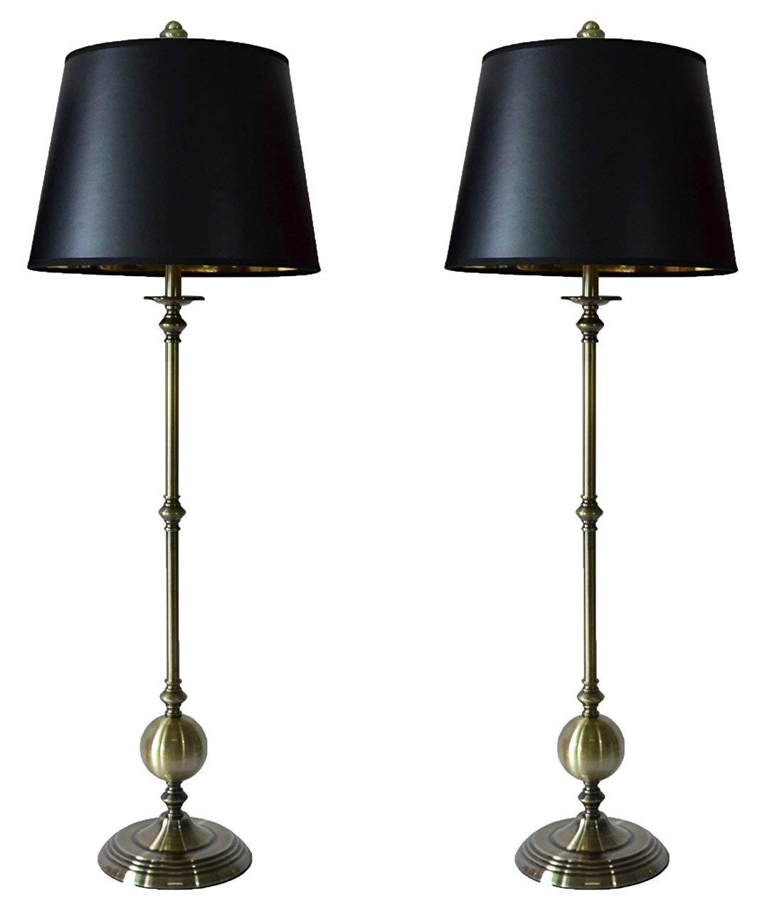 Set of 2 Bastille Buffet Lamps with Shades