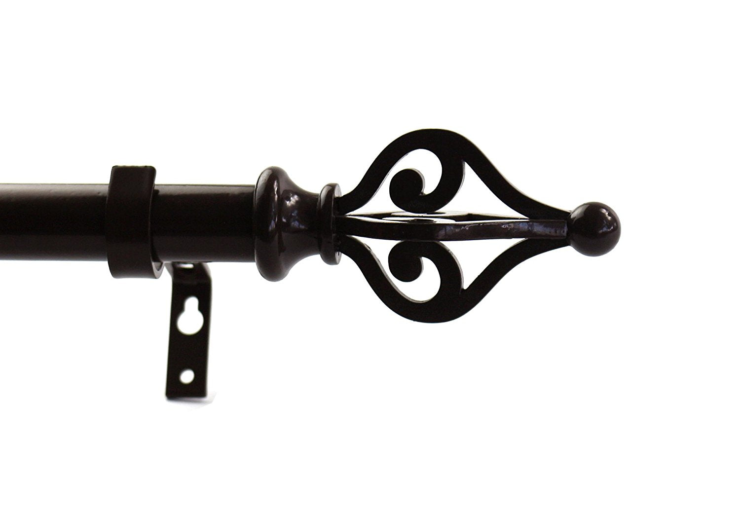 1-inch Diameter Portia Adjustable Single Drapery Curtain Rod