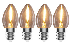 Urbanest C7 E12 LED Filament Edison-style Light Bulb, 1 Watt 15W Equivalent