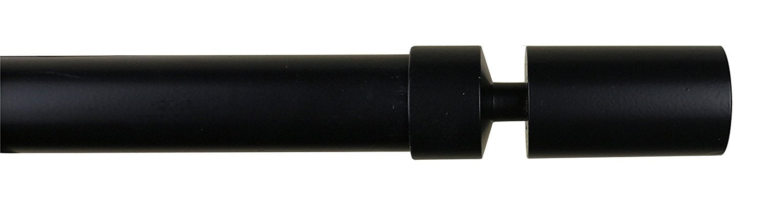 1-inch Sullivan Adjustable Single Drapery Curtain Rod - 8 Finishes