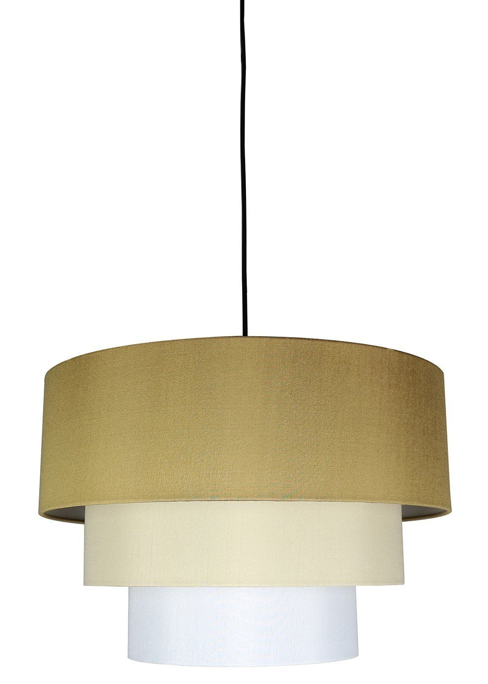 Renzo 3-tier Shade Pendant with Hanging Light Kit, 18-inch Diameter