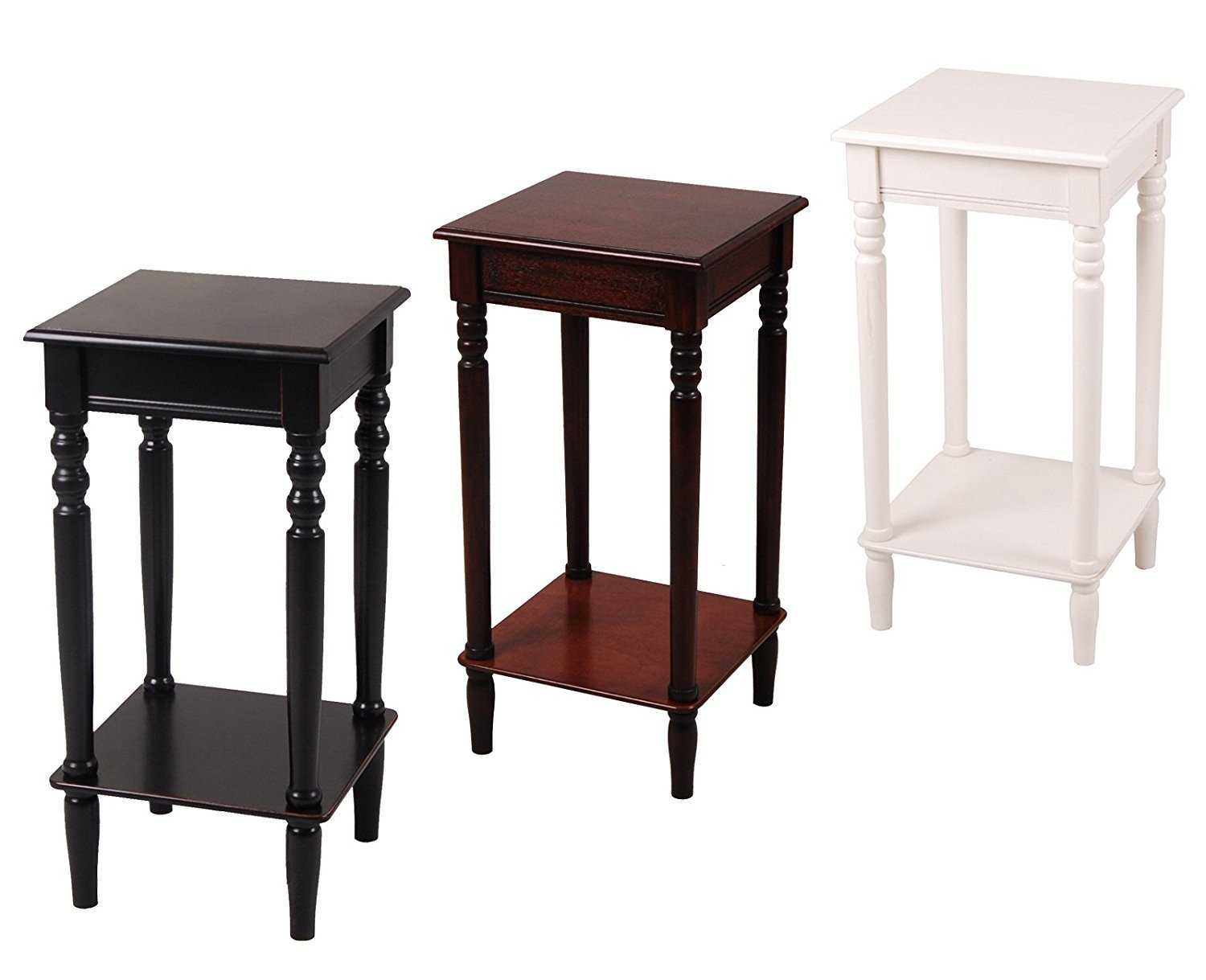 Accent Side Table, Square, Antique Black