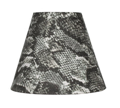 Snakeskin Fabric 6-inch Chandelier Lamp Shade