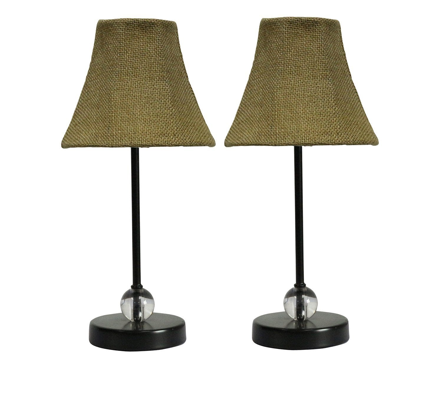 Chelsea Mini Accent Lamp with Burlap Lamp Shade