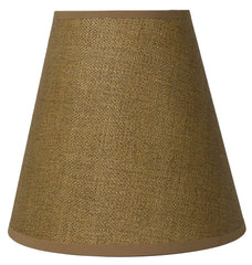Hardback Faux Silk Empire Lamp Shade 5-inch by 9-inch by 8.5-inch, Spider Washer Fitter