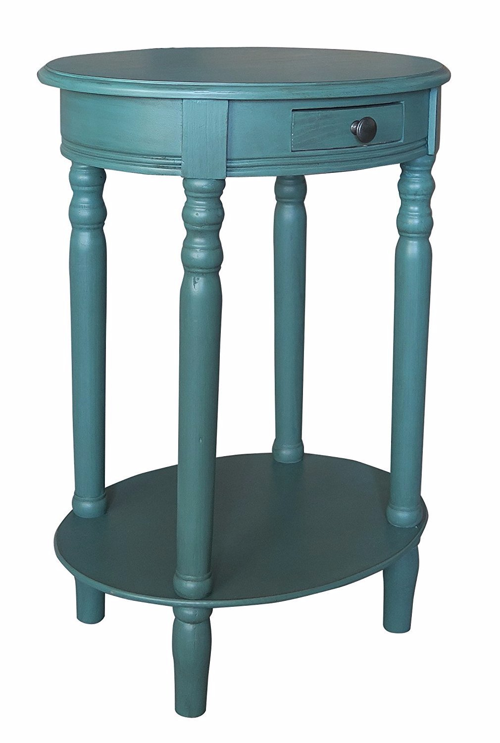 Woodbury Oval Accent Table With Drawer   6 Finishes