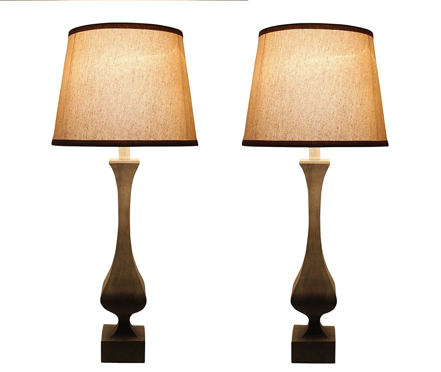 Fairview Table Lamps, 30-inch Tall, Set of 2