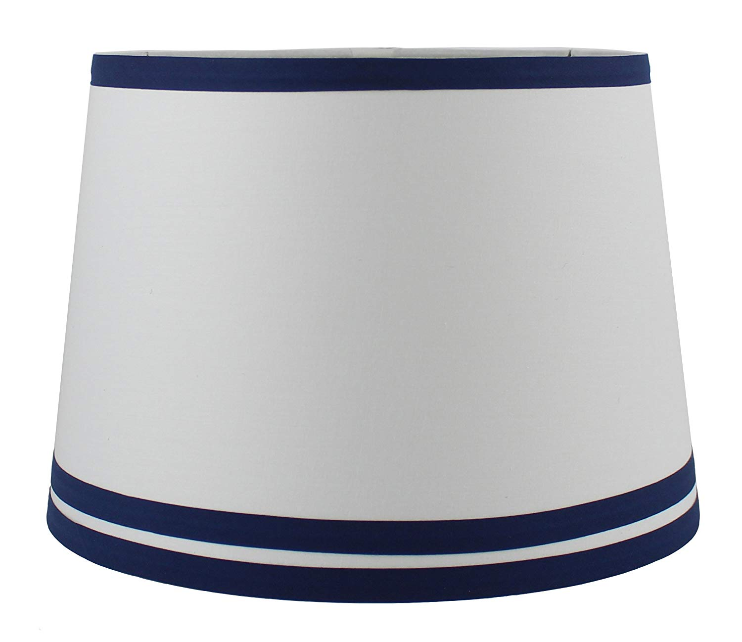Urbanest White with Double Trim French Drum Lampshade