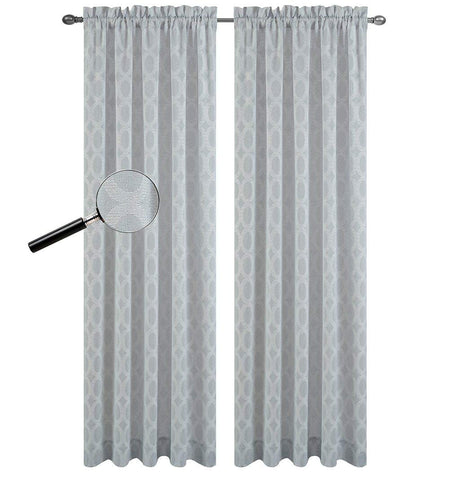 Urbanest Set of 2 Napa Sheer Curtain Drapery Panels