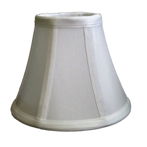 Cream and White Silk 6-inch Chandelier Lamp Shade