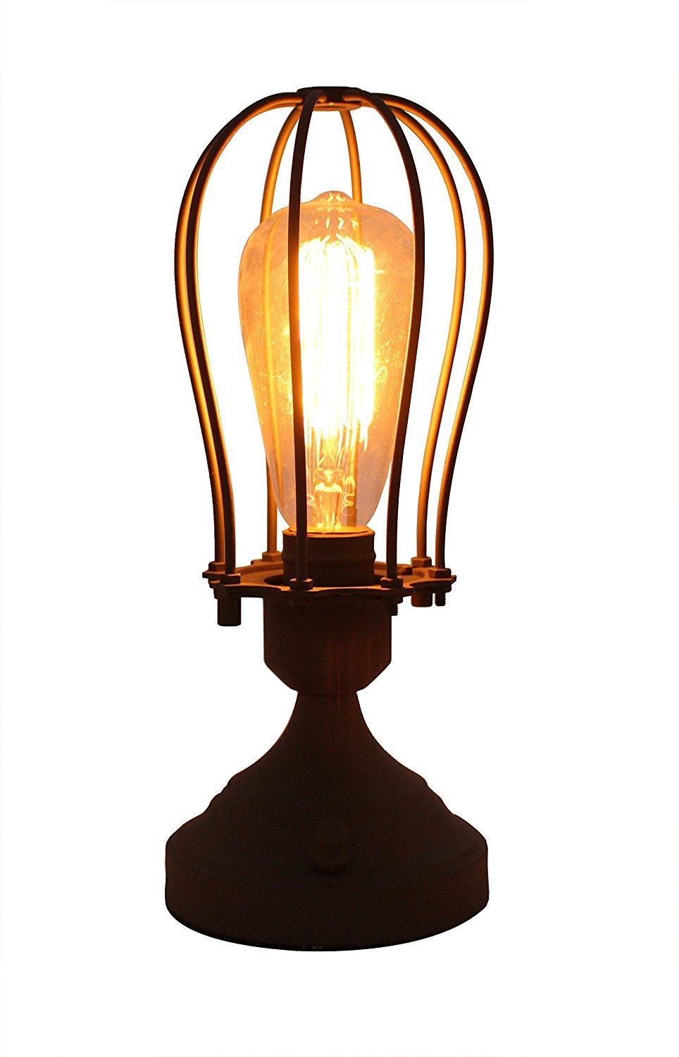Roseland Industrial Cage Table Lamp