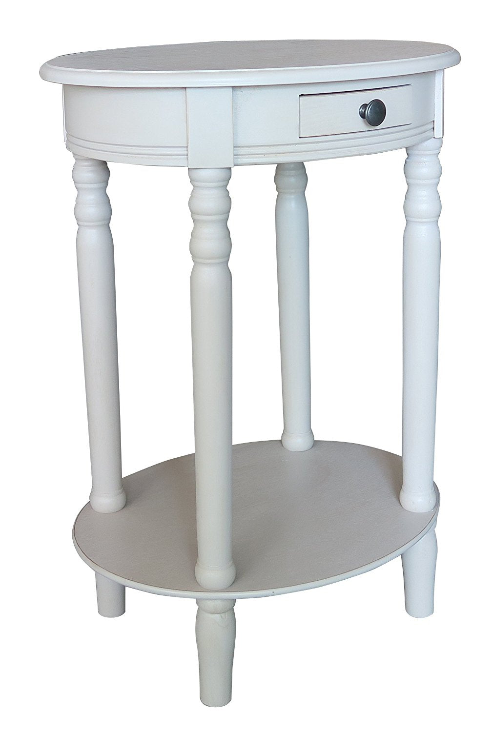 Woodbury Oval Accent Table with Drawer