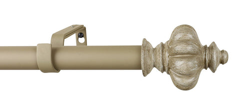 1-inch Regina Adjustable Single Drapery Curtain Rod - 6 Finishes