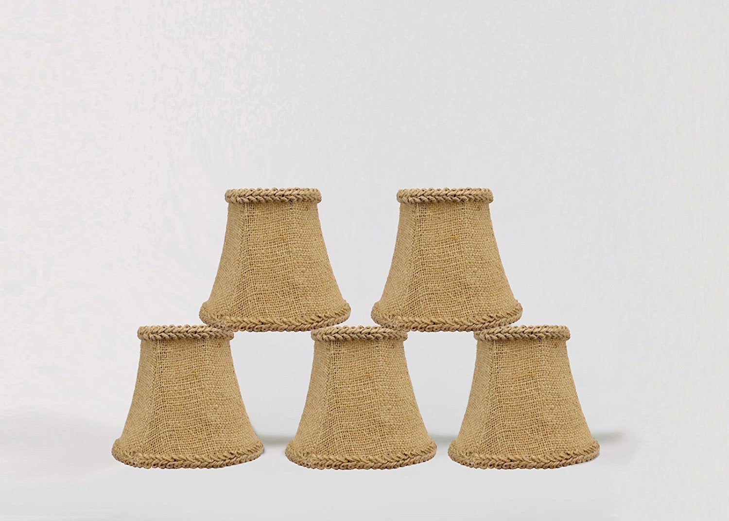 Burlap 5 inch chandelier mini lamp shade with braided trim urbanest burlap 5 inch chandelier mini lamp shade with braided trim arubaitofo Choice Image