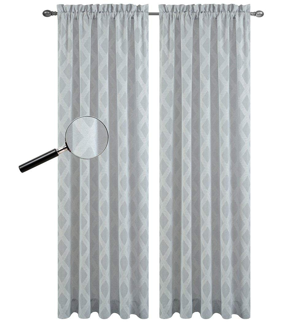 Urbanest Set of 2 Austin Sheer Curtain Drapery Panels
