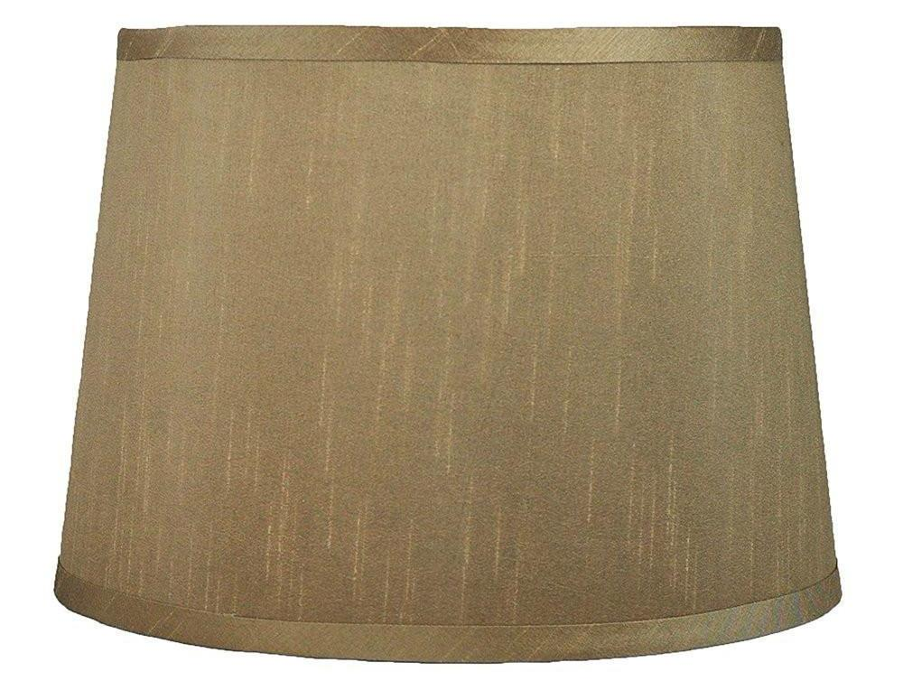 French Drum Faux Silk 16-inch Lampshade - 6 Colors