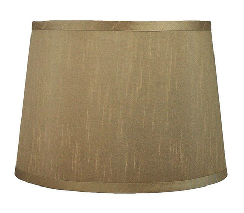French Drum Faux Silk 12-inch Lampshade - 9 Colors