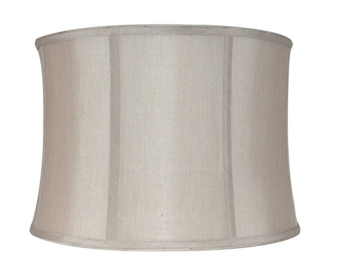 "Softback Drum Lampshade, Faux Silk, 10x11x8"", Champagne, Spider"