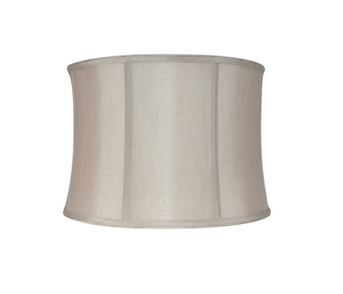 Softback Drum Lampshade,Faux Silk, 12-inch, Champagne, Spider
