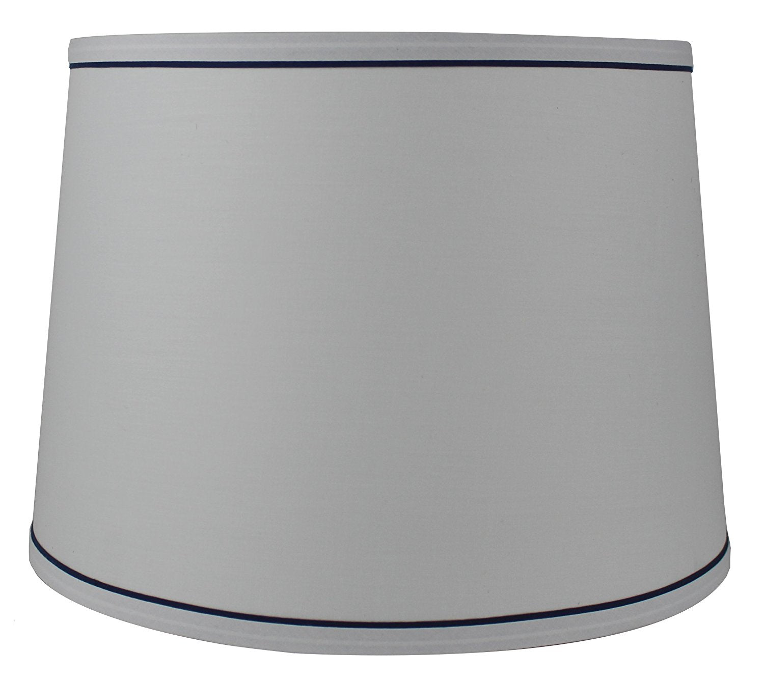 White with Color Trim French Drum Lampshade