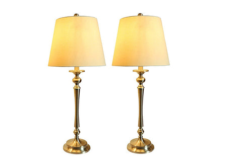 Set of 2 Constance Table Lamps, Brushed Nickel