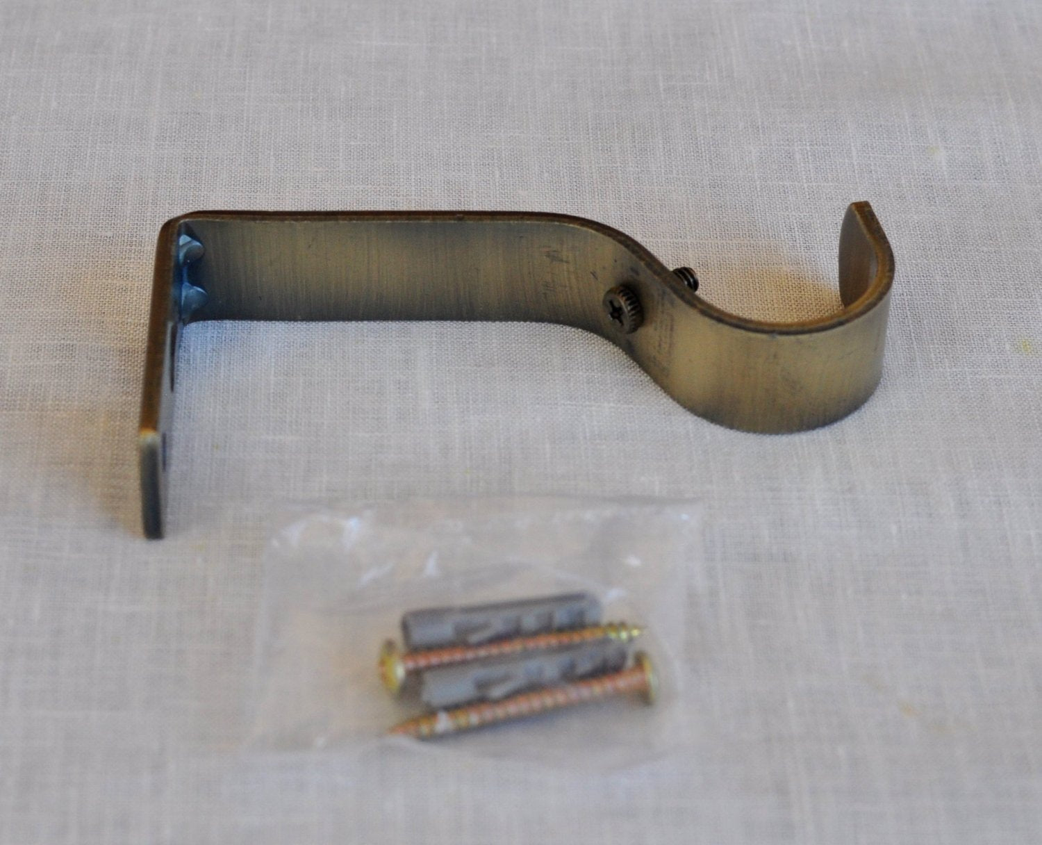 "Curtain Rod Bracket, Non-adjustable, Fits 1 1/8"" Rod - 5 Finishes"