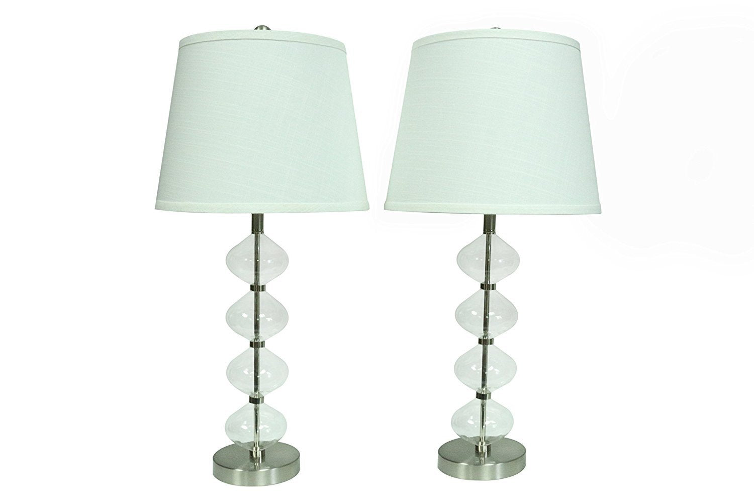 Set of 2 Beautor Table Lamps with Shades