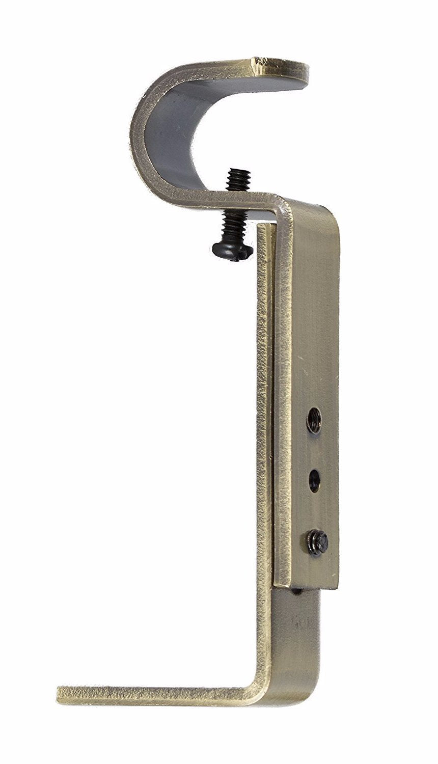 3/4 Inch Curtain Rod Bracket, Adjustable - 7 Finishes
